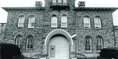 Facade of the historic Bucks County Prison