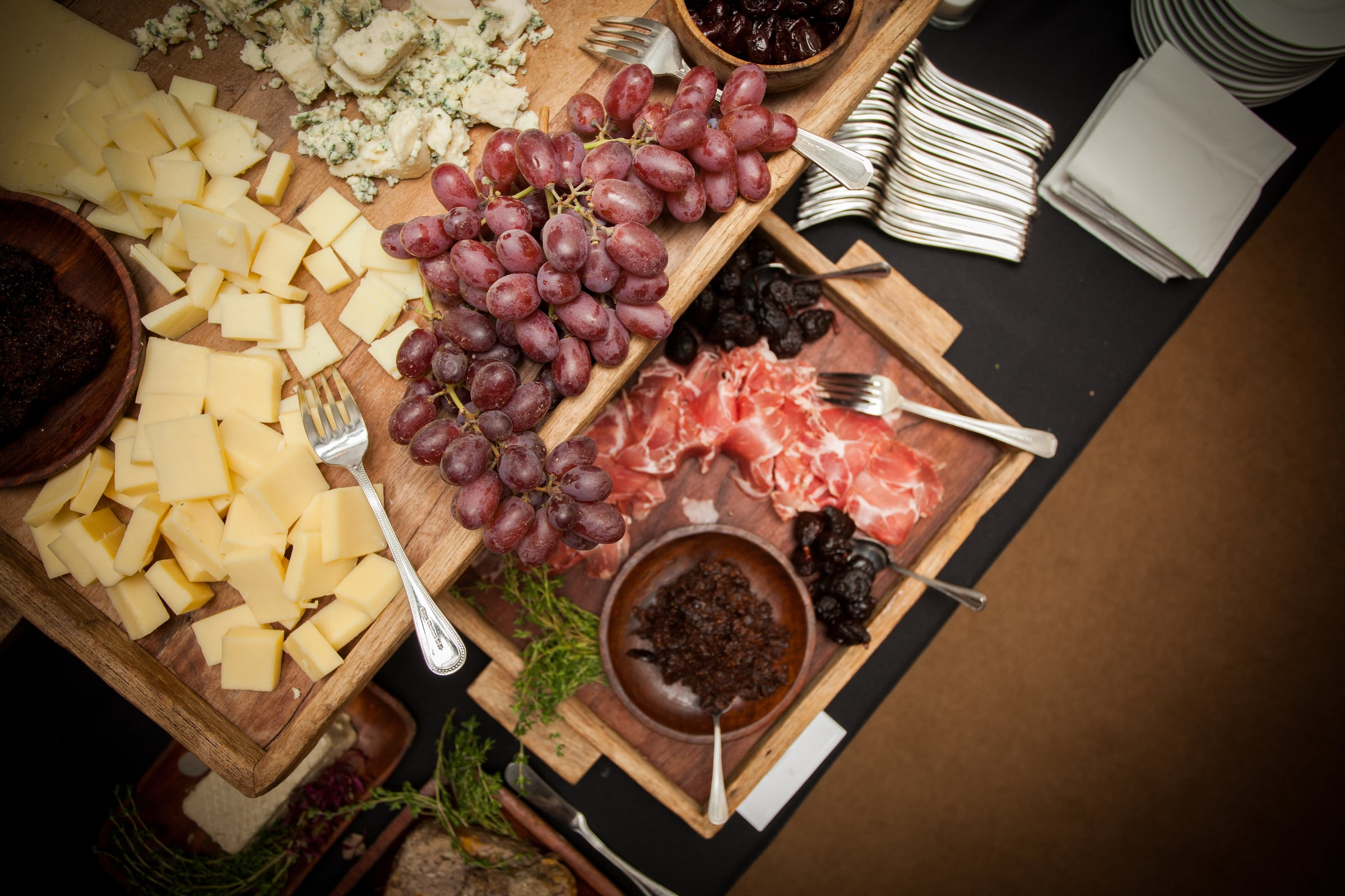 charcuterie board art of wine