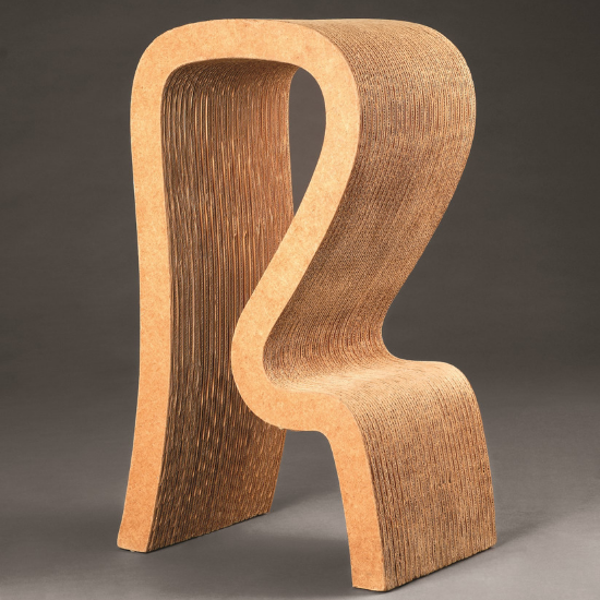 High stool designed by Frank Gehry
