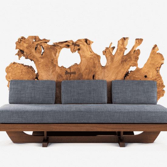 Tsuitate sofa made by Mira Nakashima