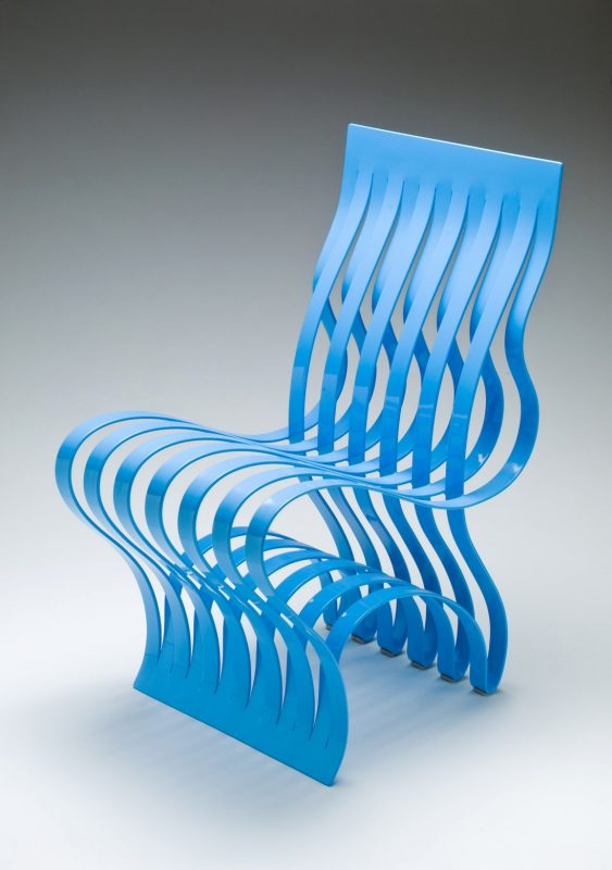 image of blue Current chair designer Vivian Beer